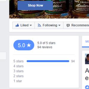 Vape Crusaders Facebook Reviews